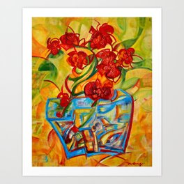 Warm Orchids Art Print