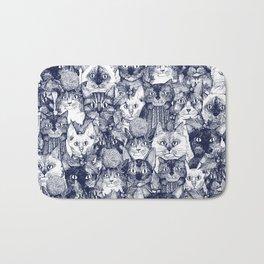 CHRISTMAS CATS blue Bath Mat