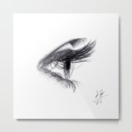 Eye handmade Drawing, Made in pencil and charcoal, Realistic Drawing Metal Print