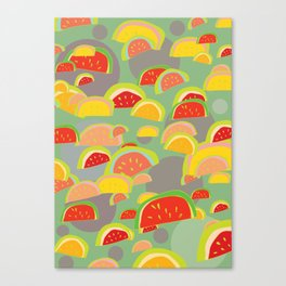 bright watermelons Canvas Print
