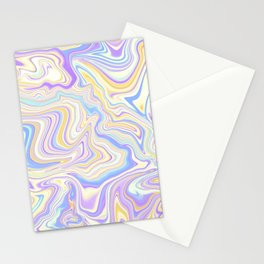 Love Spell Marble Lilac Yellow Stationery Cards