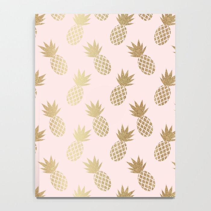 Pink & Gold Pineapples Notebook