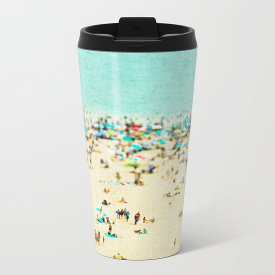 Coney Island Beach Metal Travel Mug