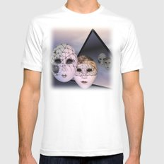 encounter with venetian masks White MEDIUM Mens Fitted Tee