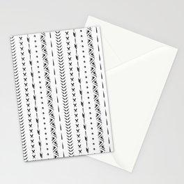 Boho mud cloth pattern, black and white Stationery Cards