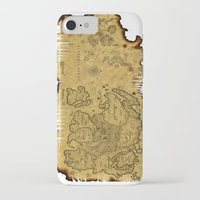 world maps iPhone & iPod Cases featuring Old Maps by tanduksapi
