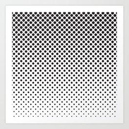 Halftone Black Dots Art Print