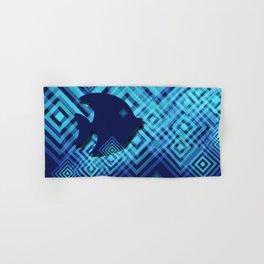 Blue Fish Angel Anglers Angles Hand & Bath Towel