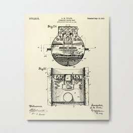 Submarine Torpedo Boat 09-1910 Metal Print