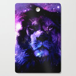 Lion leo purple Cutting Board