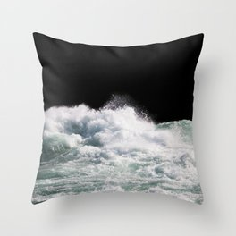 Water Photography | Wild Rapids | Waves | Ocean | Sea Minimalism Throw Pillow