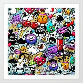 graffiti fun Art Print