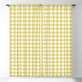 Gingham - Sunshine Yellow Blackout Curtain