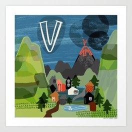 """""""V"""" Art Print"""