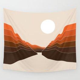 Desert Dusk Ravine Wall Tapestry