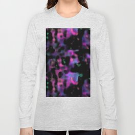 psychedelic black abstract Long Sleeve T-shirt