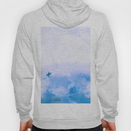 Cool Blue Moon Surf Abstract Hoody