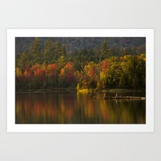 Fall Waters Art Print
