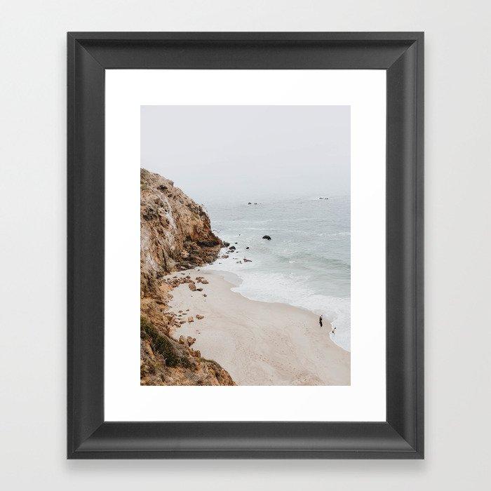 malibu coast / california Gerahmter Kunstdruck