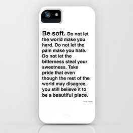 The Fur Black on White iPhone Case
