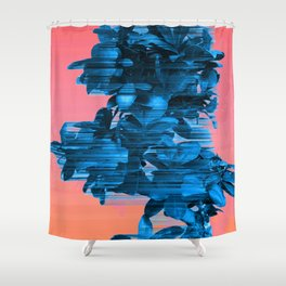 Velocious Blue Little Tree Shower Curtain