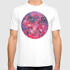 Galaxy 08 MEDIUM Mens Fitted Tee White