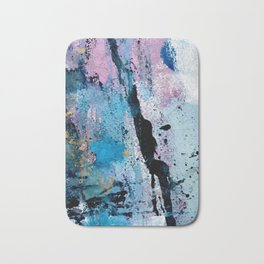 Breathe [3]: colorful abstract in black, blue, purple, gold and white Bath Mat