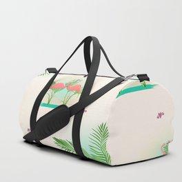 Flamingos in love Duffle Bag