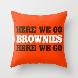 Here We go Brownies Cleveland Throw Pillow
