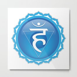 Throat Chakra Symbol Metal Print