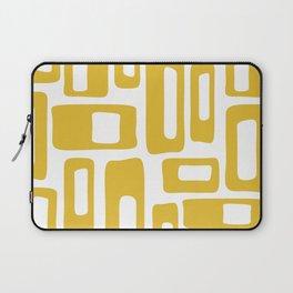Retro Mid Century Modern Abstract Pattern 336 Mustard Yellow Laptop Sleeve