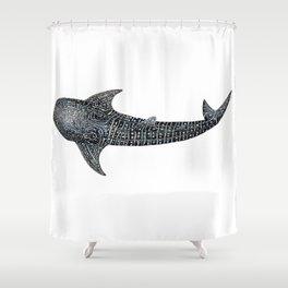Whale shark Rhincodon typus Shower Curtain