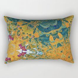 Orange and Green Flora Rectangular Pillow