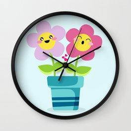 Kawaii Spring lovers Wall Clock