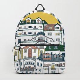 Architecture in Neighborhood | Mustard Yellow Backpack