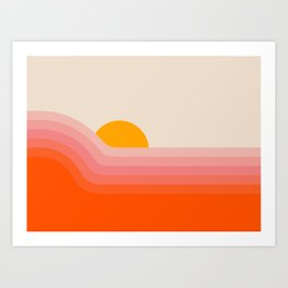 Strawberry Dipper Art Print