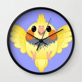 Cockatiel Birb Baby – v03 Wall Clock