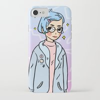 annie hall iPhone & iPod Cases featuring Annie by KITA