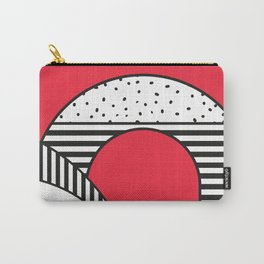 Minimal Design of a city in Red and Black and White Carry-All Pouch