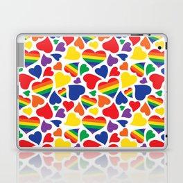 Retro Rainbow LGBT Pride Hearts Laptop & iPad Skin