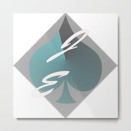 JE Art Logo Metal Print