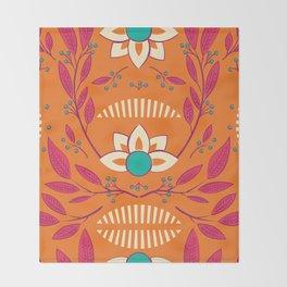 Flora Vibrant 003 Throw Blanket