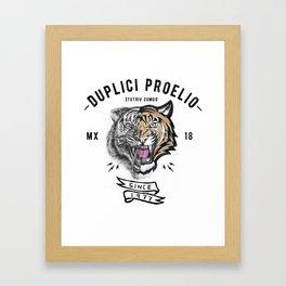 DUPLICI PROELIO Tiger by leo Tezcucano Framed Art Print