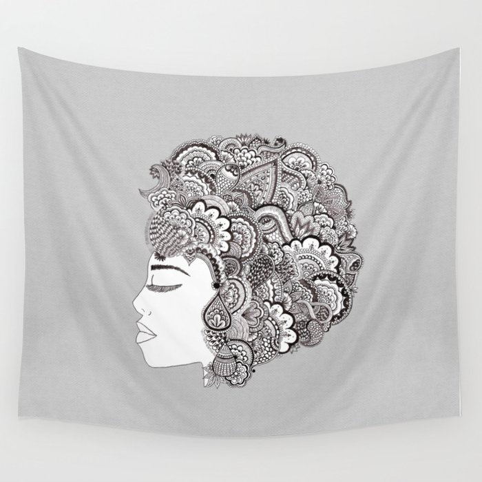 her hair Wall Tapestry