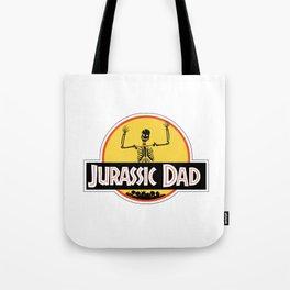 Jurassic Dad Dinosaur Skeleton Funny Birthday Gift 2 Tote Bag