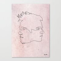 quibe Canvas Prints featuring One line Fight Club by quibe