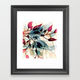 Flood of Leafs Framed Art Print