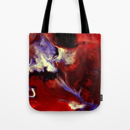Abstract, Red, White, Violet, Black (CA17036C) Tote Bag