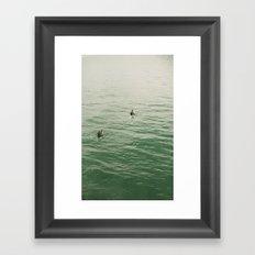 Surfers Framed Art Print