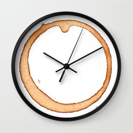 Vector coffee ring Wall Clock